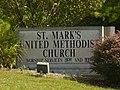 Bloomington - St Mark United Methodist - sign - P1100312.JPG