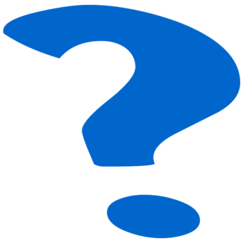 Blue question mark