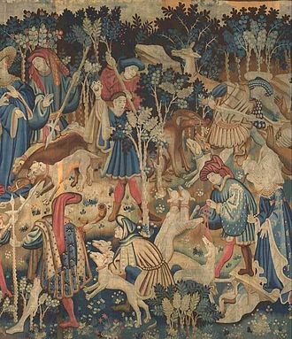 Devonshire Hunting Tapestries - Image: Boar and Bear Hunt