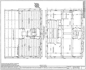 Boardman House (Saugus, Massachusetts) - Floor plans.