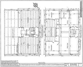 Boardman House (Saugus, Massachusetts) - Floor plans.