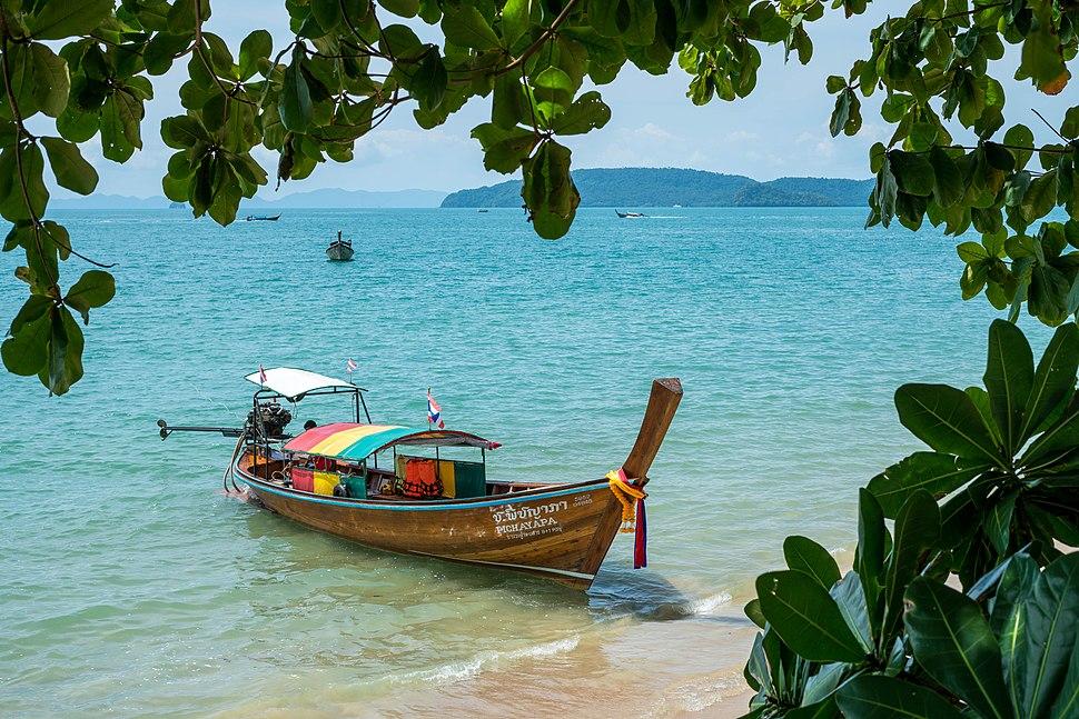Boat in Aonang Beach, Krabi