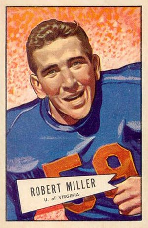 Bob Miller (American football) - Miller on  a 1952 Bowman football card