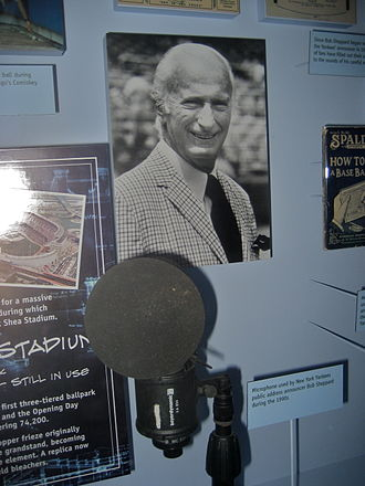 Bob Sheppard - Sheppard's microphone in the Baseball Hall of Fame