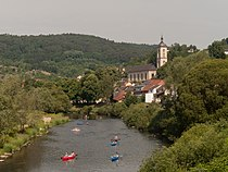 Bollendorf, de Sauer met die katholische Pfarrkirche Sankt Michael Dm foto5 2014-06-09 10.45.jpg