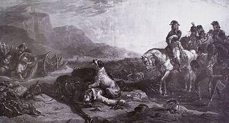 Charles George Lewis - Bonaparte a Bassano, engraving by Charles George Lewis, after Thomas Jones Barker