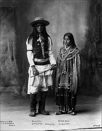 """Boss of the Plains - An Apache man wearing a """"Boss of the Plains"""" Stetson"""