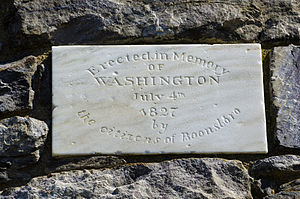 Washington Monument State Park - Erected in Memory of Washington July 4th 1827 by the citizens of Boonsboro