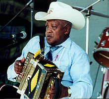 Boozoo Chavis at the 2000 Original Southwest Zydeco Festival.