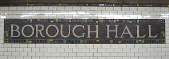 Court Street–Borough Hall (New York City Subway) - Station identification mosaic