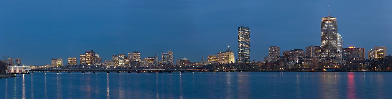 picture shows a panorama of Boston