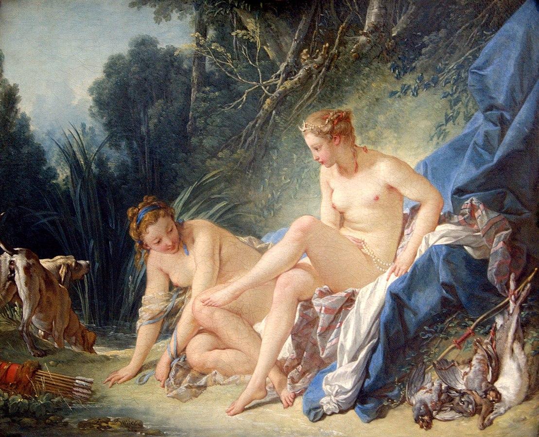 Diana leaving her Bath