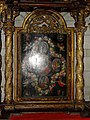 Bougival (78), église Notre-Dame, croisillon nord, tableau de retable - scènes de la vie de la Vierge.jpg