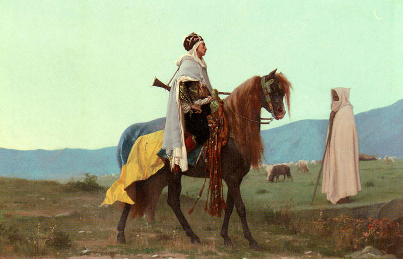 Fichier:Boulanger Gustave Clarence Rudolphe An Arab Horseman.jpg