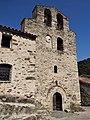 Boule-d'Amont - Église Saint-Saturnin - Clocher-mur.jpg