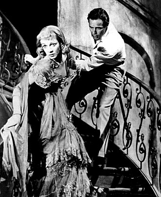 Elia Kazan - Brando and Vivien Leigh in a scene from A Streetcar Named Desire (1951)