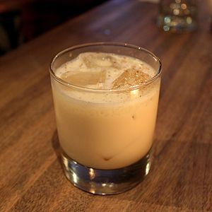 Brandy Alexander - A Brandy Alexander served on the rocks.