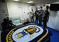 Brazilian military Gen. Floriano Peixoto, commander of United Nations Stabilization Mission in Haiti, visits USS Bataan (LHD 5) with U.S. Army Lt. Gen. P.K. Keen, deputy commander of U.S. Southern Command and 100311-N-HX866-026.jpg