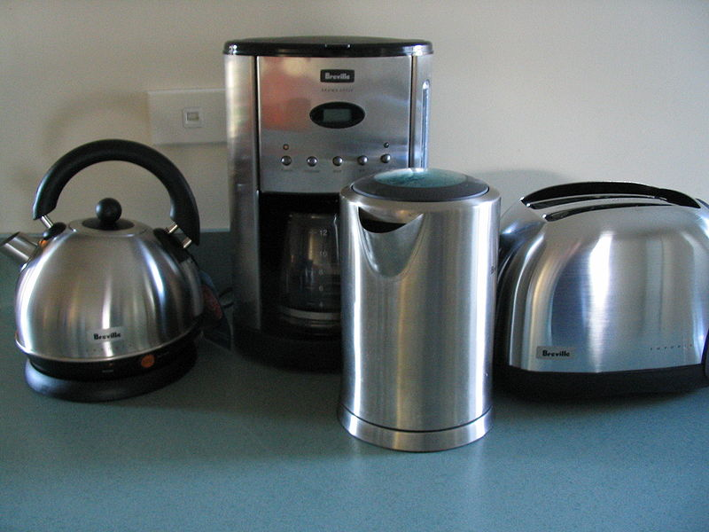 Home appliance, household machines, using electricity or some other energy input Small appliances, Major appliances