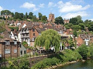 Bridgnorth town in Shropshire