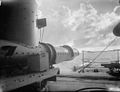 British Destroyer Fires a Torpedo, and Brings It Back Again. 25 November 1942, in the Indian Ocean Aboard HMS Derwent. a British Destroyer Carried Out a Torpedo Exercise and Afterwards Recovered the Torpedo. A13695.jpg