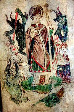 British Library Royal 17 B XLIII St John of Bridlington in St Patricks Purgatory.jpg