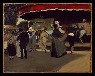 Alfred Henry Maurer - Carousel, c. 1901-1902, Brooklyn Museum