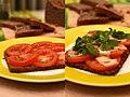 Brot überbacken mit Tomate, Parmesan, Basilikum (4316167083).jpg