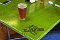 Brown ale, green table (20395487464).jpg