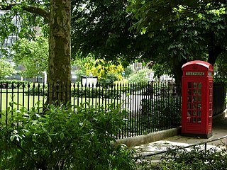 Square in Bloomsbury, in the London Borough of Camden