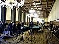 Bucuresti, Romania. PALATUL VICTORIA. (Sediul Guvernului Romaniei) 1. Dec. 2015 (interior, in asteptarea tele conferintei)(2)(B-II-m-A-19877).jpg