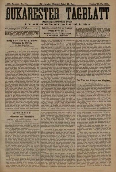 File:Bukarester Tagblatt 1910-05-10, nr. 101.pdf