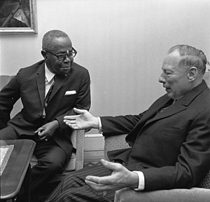Clifford Campbell - Clifford Clarence Campbell and German politician Helmut Lemke in 1967