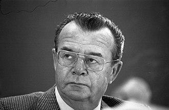 Heinz-Herbert Karry auf dem FDP-Bundesparteitag 1977
