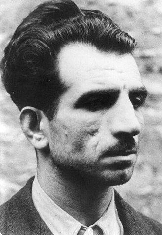 Missak Manouchian - Portrait kept in the German Federal Archives and reproduced on the Affiche Rouge.