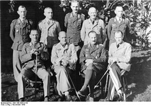 Kurt Freiherr von Liebenstein - Liebenstein (front row, 2nd from right) at Trent Park