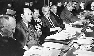 Basic Law for the Federal Republic of Germany - The West German ministers-president debating the Frankfurt Documents in Koblenz