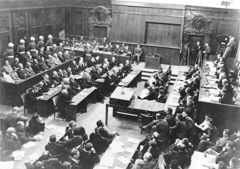 Bundesarchiv Bild 183-H27798, Nürnberger Prozess, Verhandlungssaal