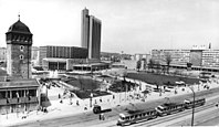 """Bundesarchiv Bild 183-S0603-0009, Chemnitz, Stadtzentrum, Stadthalle, """"Roter Turm"""".jpg"""