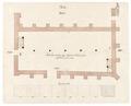 Byggnadsritning för ombyggnad av S-t Georg kyrka till tyghus och magasin, 1670-tal - Skoklosters slott - 98946.tif