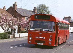 Bygone Buses - A Bygone liveried Marshall-bodied Leyland Leopard en route to Goudhurst