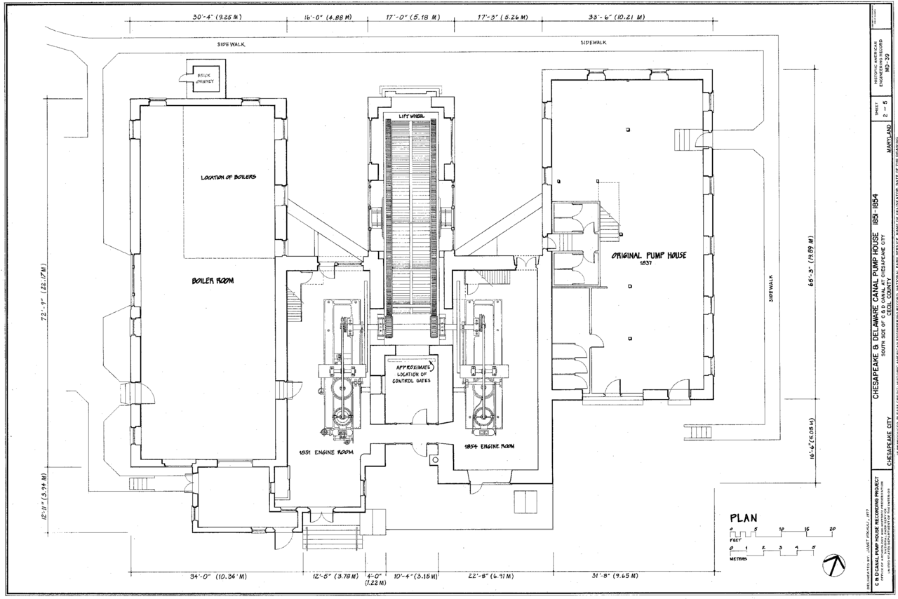 File C Amp D Canal Pump House Plan Png Wikimedia Commons