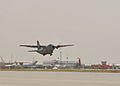 C-27 Afghan military transport plane taking off from Kabul in 2010.jpg