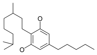 Cannabinoid - Chemical structure of the CBG-type cyclization of cannabinoids.