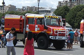 Marseille Naval Fire Battalion - Intervention truck of the Marins-Pompiers of Marseille