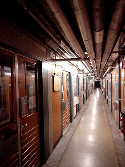 The corridor where WWW was born. CERN, ground floor of building No.1 CERN web corridor.jpg