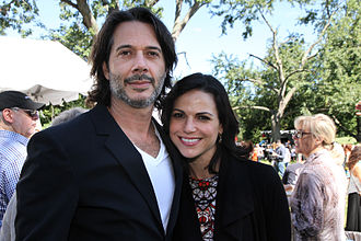 Lana Parrilla - Parrilla with her husband Fred Di Blasio in 2014