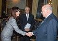 CFK y Taiana reciben a José Insulza.jpg