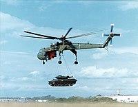 CH54B and M551 Sheridan