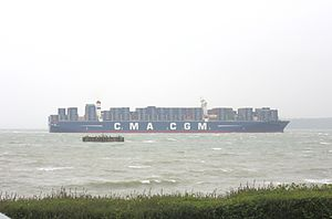 CMA CGM Kerguelen - Image: CMA CGM Kerguelen on her maiden voyage May 2015